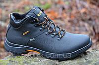 Зимние мужские ботинки, черные натуральная кожа, мех Gore-tex Харьков 2017 (Код: Т898)