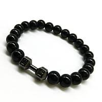 "Тибетский браслет из бусин ""Сила агат Black"""