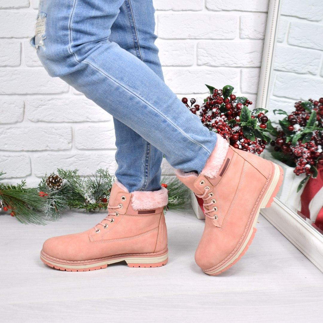Ботинки женские TimTim розовые, ботинки зимние