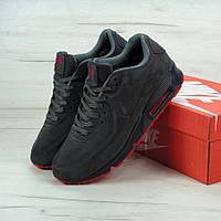 Кроссовки Nike Air Max 90 VT Tweed Grey (C мехом) мужские 42