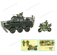 Набор военного транспорта и солдатики