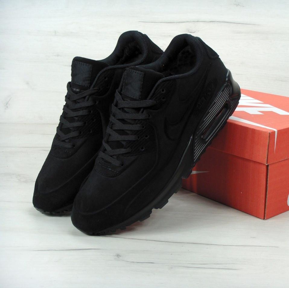 042d98f7 Кроссовки в стиле Nike Air Max 90 VT Tweed All Black (C мехом) мужские