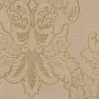Молочная жаккардовая ткань для штор и декора с узором дамаск MINIONS-04
