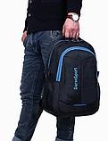 Рюкзак DerenSport спортивный черно-голуб., фото 3