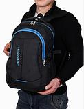 Рюкзак DerenSport спортивный черно-голуб., фото 4