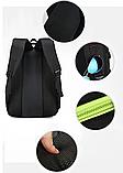Рюкзак DerenSport спортивный черно-голуб., фото 6