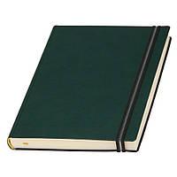 Ежедневник Дакар Премиум Эластик недатированный, кремовый блок, зеленый