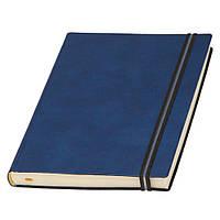 Ежедневник А5 Дакар Премиум Эластик недатированный, кремовый блок, синий, от 10 шт