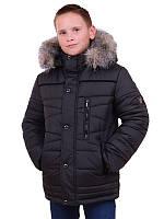 Зимняя черная куртра для мальчика