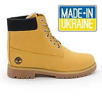 Зимние желтые ботинки Timberland clasic (Тимберленд) с мехом. р.(37 49de9bcf13d51