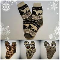 Мужские теплые носки с новогодней тематикой, р. 42-43, черные