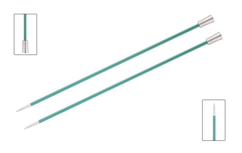 Спицы прямые 40 см Zing KnitPro 8,00 мм