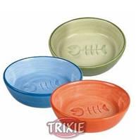 Trixie Миска керамическая для кошек  с рыбкой