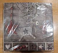 Подарочный бумажный пакет большой горизонтальный Олень 12шт/уп
