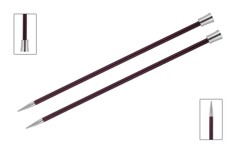 Спицы прямые 40 см Zing KnitPro 12,00 мм