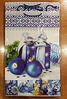 Подарочный бумажный пакет большой вертикальный Подарок 12шт/уп