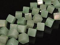 Бусы из нефрита, кубик