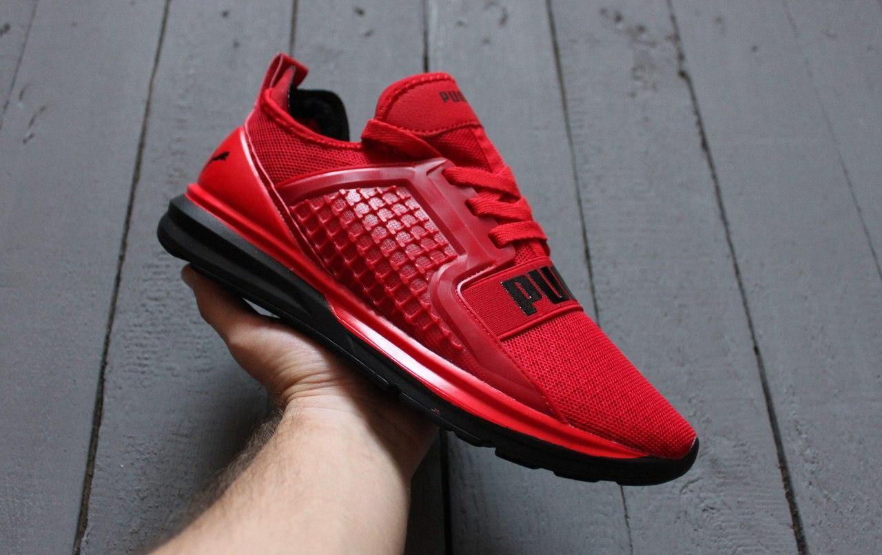 Мужские кроссовки в стиле Puma Ignite Red красные - Интернет-магазин