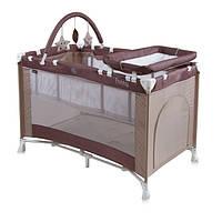 Манеж - кровать Lorelli Penny 2 Layers Plus, beige