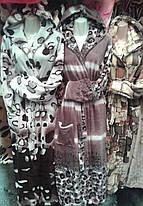 Махровый женский халат из полированной махры от 48 до 58 р-ра, Украина, фото 2