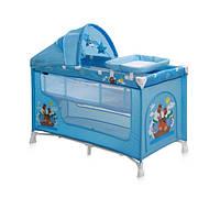 Манеж-кроватка Lorelli Nanny 2 Layers Plus Blue adventure