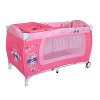 Кровать-манеж Bertoni Danny 2 layers pink Kitty