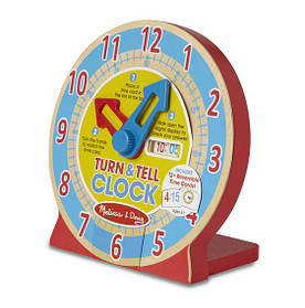 Деревянные умные часы для детей с 4 лет / Turn & Tell Clock ТМ Melissa & Doug MD14284