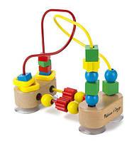Классический пальчиковый мини-лабиринт с бусинами для детей от 1 года /First Bead Maze ТМ Melissa & Doug MD13042