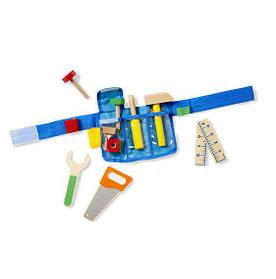 Ременной комплект с деревянными инструментами для мальчиков с 3 лет / Deluxe Toolbelt Set ТМ Melissa & Doug MD15174