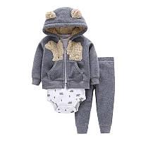 Флисовый костюм 3 в 1 для ребенка 24 мес. (кофта, штаны, боди) HA06692, фото 1