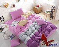 Комплект постельного белья TAG Color mix APT023 Поплин Семейный