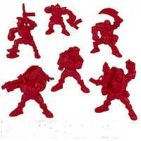"""Набір воїнів """"Легіон Тайфун"""" без коробки (6 воїнів/ колір червоний), Fantasy"""