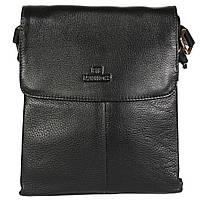 Повседневная мужская кожаная сумка-планшетка черная (Италия) Lare Boss LB005873-51