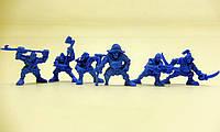 """Набір воїнів """"Штурм-Корпус Нептун"""" без коробки (6 воїнів/ колір синій), Fantasy"""