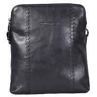 Вместительная мужская кожаная сумка черная Coloetker CR005846-11