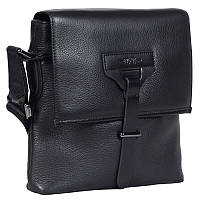 Качественная мужская кожаная сумка формата А5 черная High Touch HT007891-41