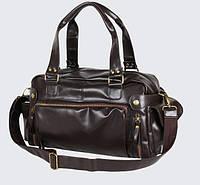 Кожаная мужская сумка Экокожа Коричневый