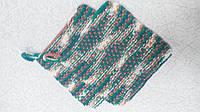 Набор из двух вязанных салфеток-прихваток