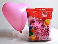 Шарики воздушные Сердце пастель розовое 100 шт. п/э /50/