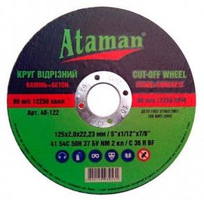 Отрезной круг по камню Ataman 2302,522