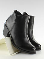 12-08 Черные низкие женские ботинки лаковые LDS-8H8593 36