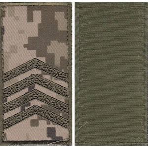 """Погон """"Старший сержант"""" камуфляжный (пиксель) на липучке, фото 2"""