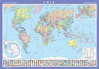 Карта мира политическая 1:22 млн картонная (1828)