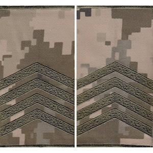 """Погон """"Старший сержант"""" муфта, камуфляжный (пиксель)"""