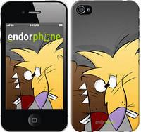 """Чехол на iPhone 4s Злюки бобри """"2999c-12-8079"""""""
