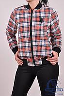 Куртка женская стеганая (ткань фланель, цв.красный/серый) CWAN 1100 Размер:48