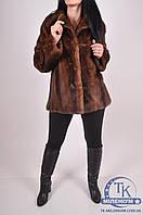 Полушубок женский из натурального меха норки (объем 110, длина 65см.) hong