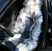 Меховые накидки на передние сиденья PSV, овчина., фото 1