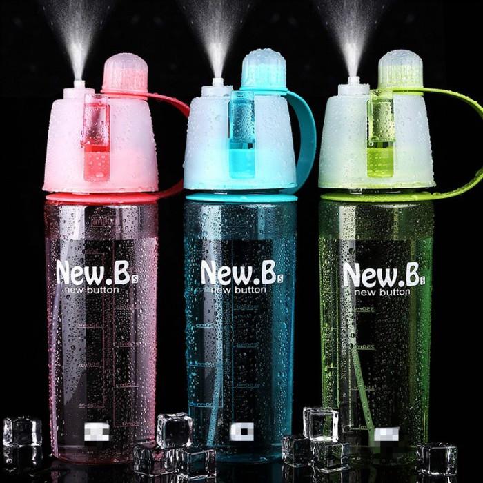 """Спортивная бутылка для воды с распылителем """"NEW  BUTTON"""" 600 мл (ящ. 50шт)"""