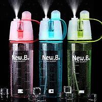 """Бутылка для воды с распылителем """"NEW  BUTTON"""" 600 мл (ящ. 50шт)"""